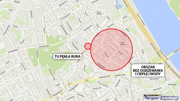 Awaria dotyczy 244 budynków targeo