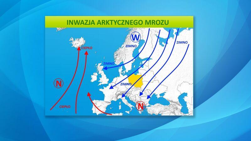 Układ baryczny nad Europą