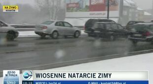 Fatalna pogoda w Krakowie (TVN24)